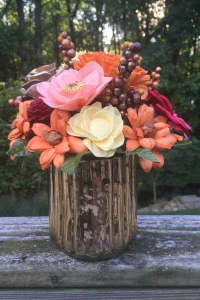 Fall Berry Vase