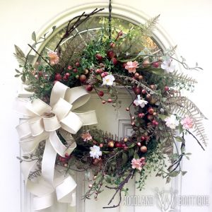 Fern Primrose & Berry Wreath