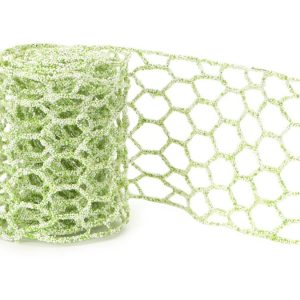 Microbead Chicken Wire Green White 4 inch