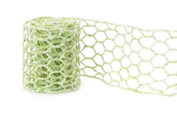 Microbead Chicken Wire Green White 4 inch