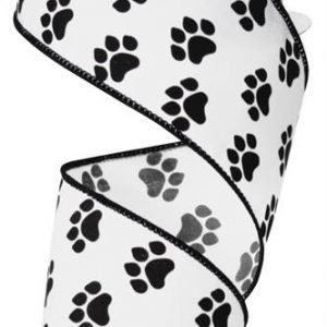 "Paw Print Ribbon 2.5"" x 10 yards"