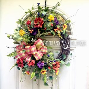 Sunset Wildflower Wreath