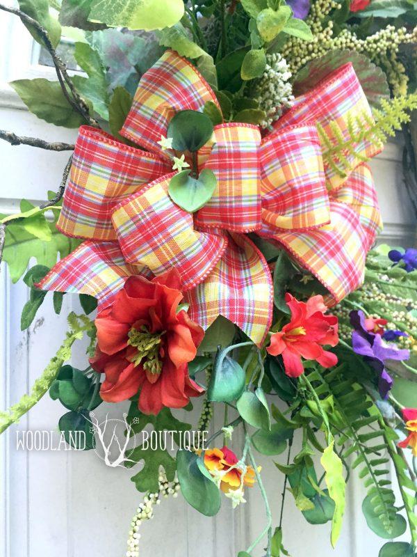 Sunset Wildflower Wreath