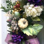 Purple Harvest Wreath