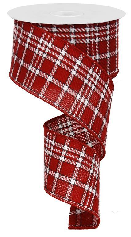 Red Tartan Plaid Ribbon