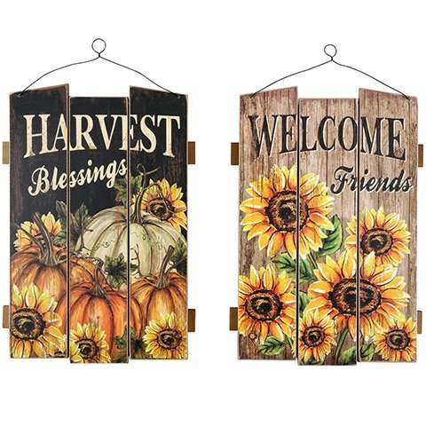 Fall Wood Plank Sign