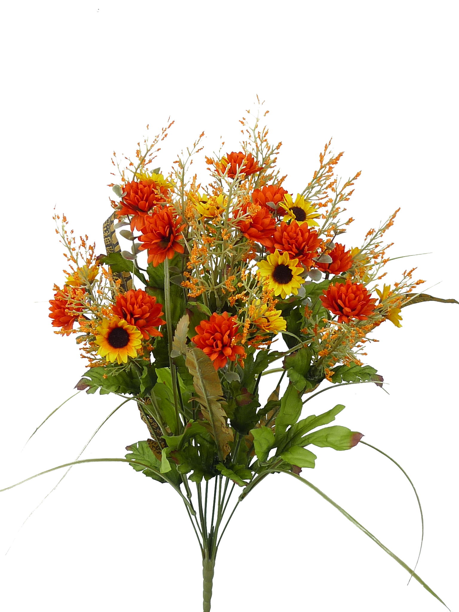 "Orange/Yellow Filler Flower Bush - 21""H | Woodland Boutique"
