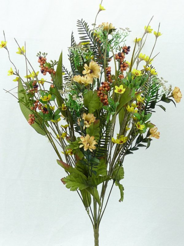 "Yellow/Brown Filler Berry Bush x 12 -21"""