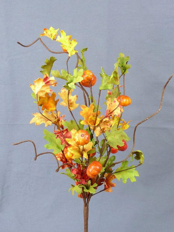 Mini Pumpkin & Oak Leaves Bush