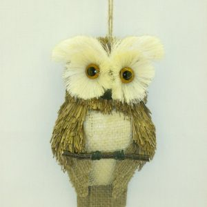 Flat-Backed Owl - 9""