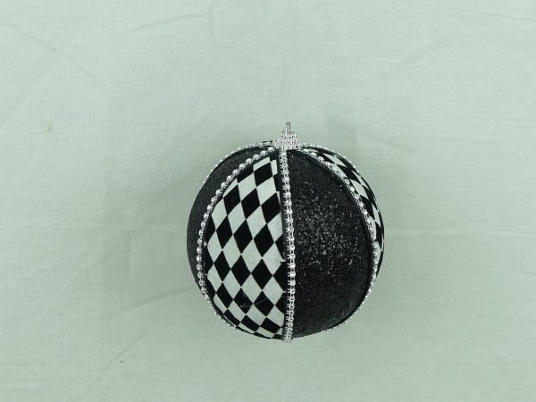 "Harlequin Ornament Ball - 4"""