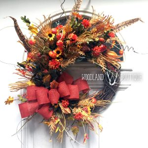 Fall Wildflower Wreath