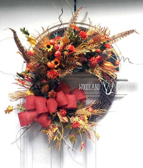 Fall Wildflower Wreath