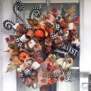 Harvest Blessings Fall Wreath