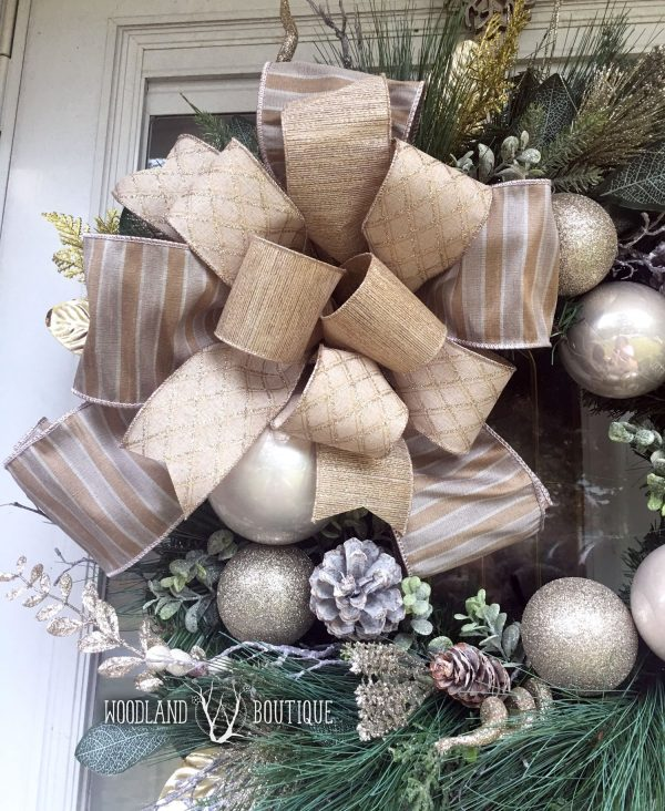 Champagne Shimmer Wreath