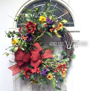 Autumn Sunset Wildflower Wreath
