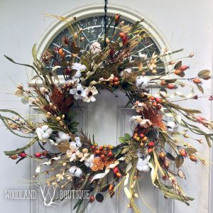 Farmhouse Glam Glitter Wreath