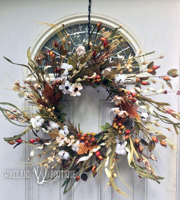 Farmhouse Glam Glitter Wreath