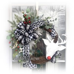 Whimsical Rudolph wreath
