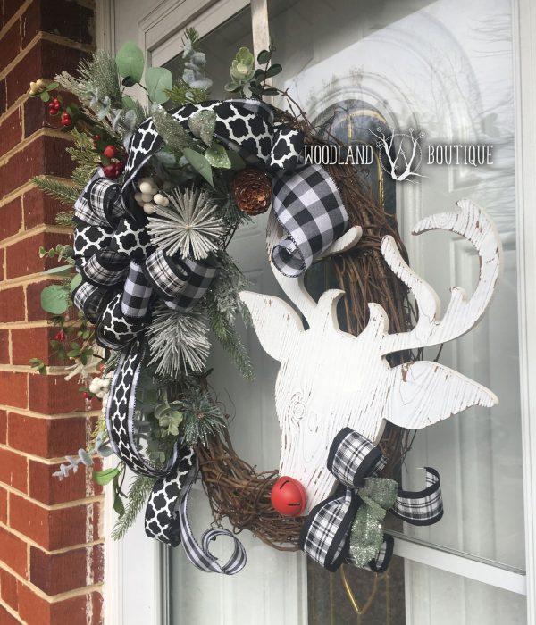 Whimsical Rudolph wreath