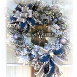 Silver & Blue Snowflake Wreath