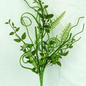 """Mossy Leaf & Twig Spray - 28"""""""