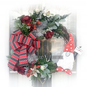 Valentines Gnome Wreath