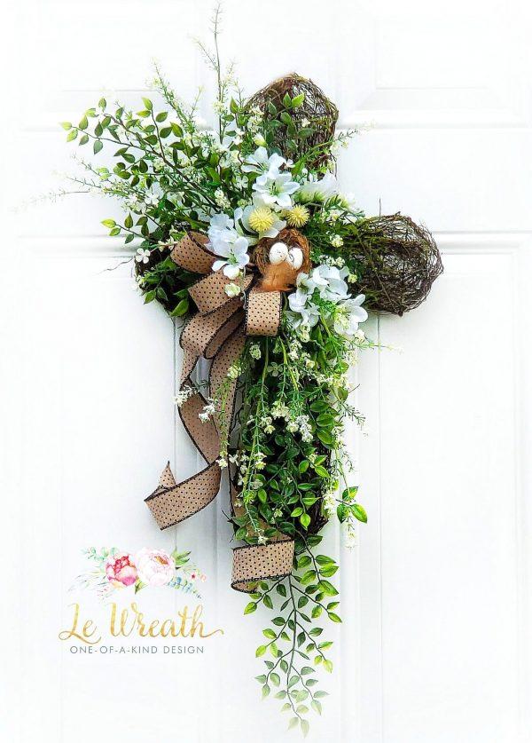 Grapevine Cross by Le Wreath