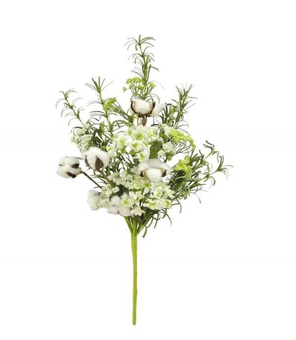 "Cotton, Greenery & Flower Bush - 22"""