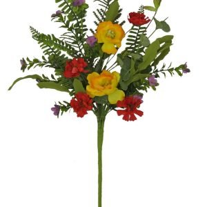 Red/Yellow Poppy Spray - 23""