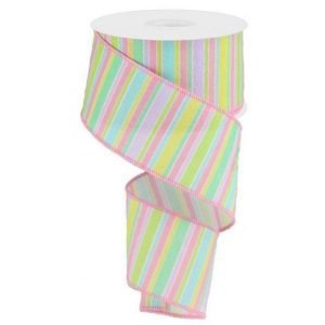 Horizontal Stripe Pastel Ribbon