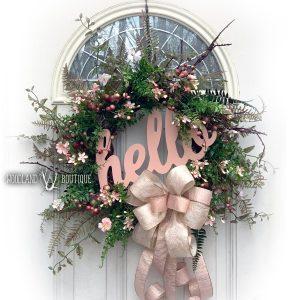 Hello, Rose Wildflower Wreath