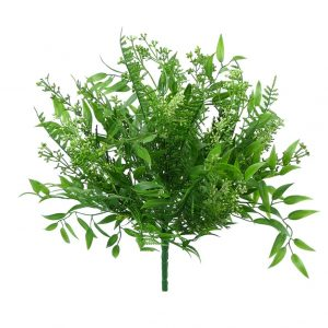 Plastic Mix Greenery bush x9 - 15""