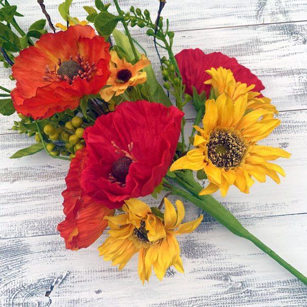 Sunflower & Poppies Mixed Bush