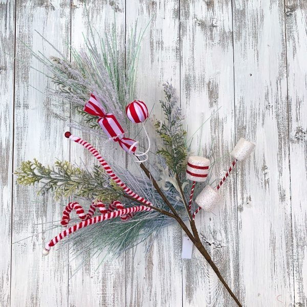 Flocked Pine Candy Spray