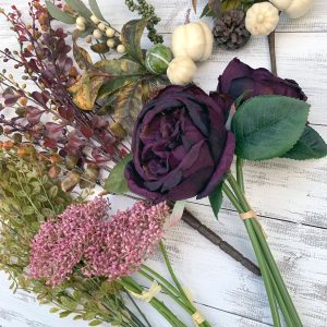 Eggplant & Cream Floral Kit