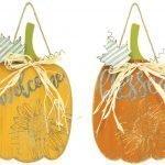 Shaped Pumpkin Sign (Choose Design)