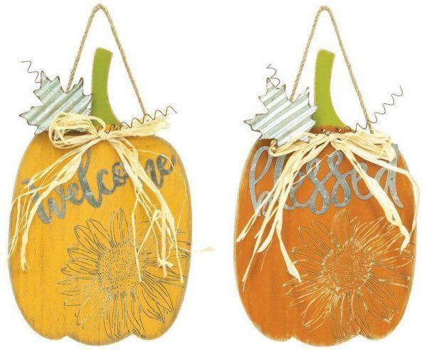 Wood Pumpkin Sign