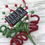 "Merry Christmas Curl Spray - 18"""
