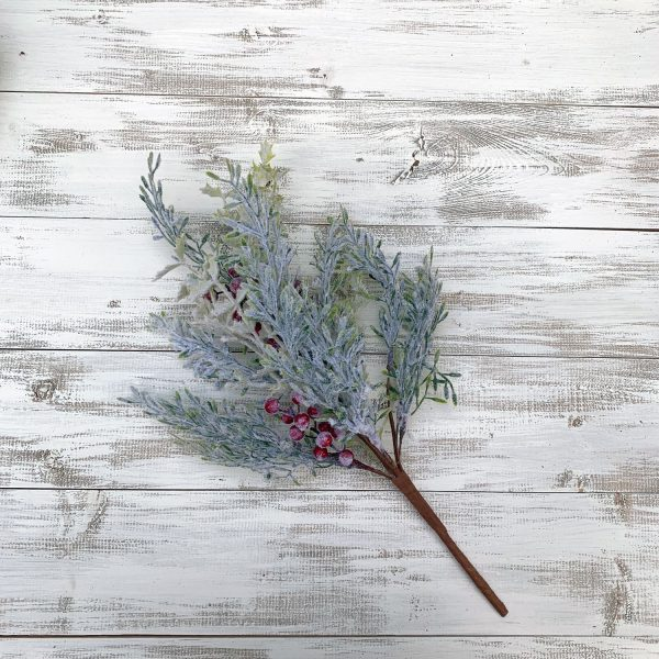 Frosted Pine and Berry Bush