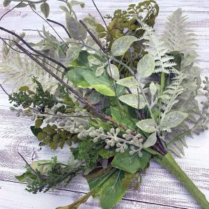 Mixed Leaves Greenery Bush - 25""
