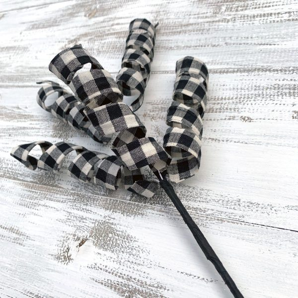 Buffalo Plaid Spiral Pick - 16""