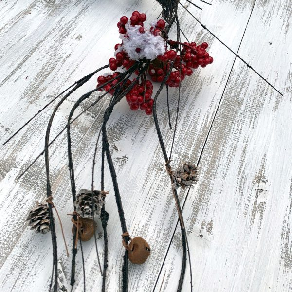 Berry & Bell Twig Garland - 48""