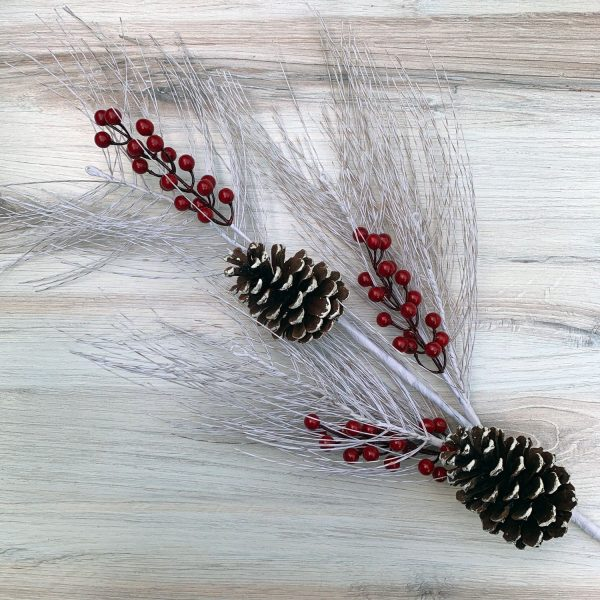 Birch Pine Berry Spray - 33""