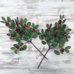 "Holly Berry Pick - 14"" Set of 2"