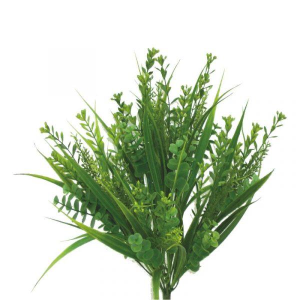 Plastic Grass Mixed Bush x 9