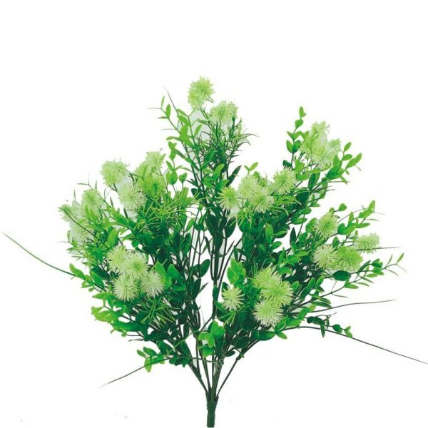 "Plastic Thistle Bush x 9 - 18"""