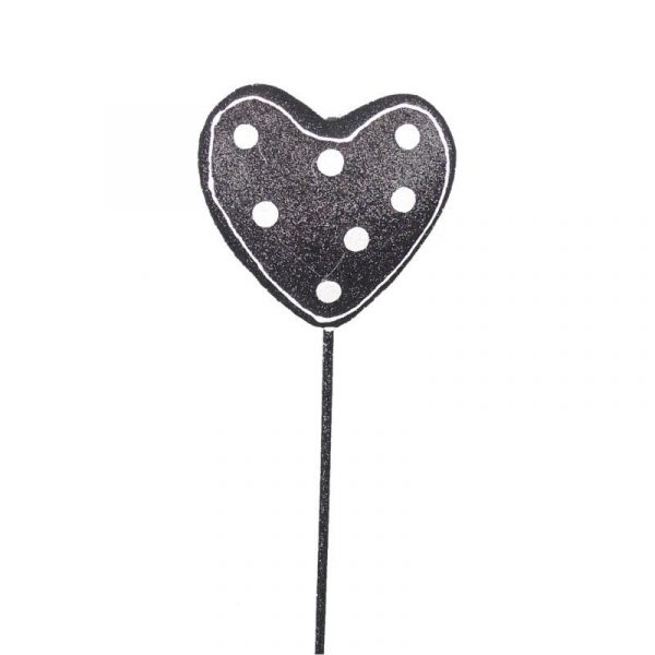 Black & White Polka Dot Heart