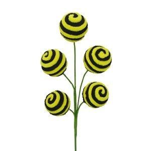 "Black/Yellow Spiral Ball Pick - 17"""