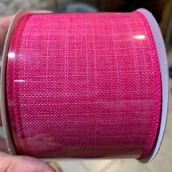 "Fuchsia Pink Textured Ribbon - 2.5"" x 10 yards"